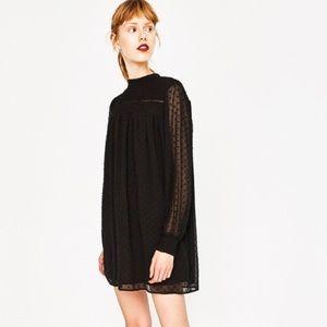 Zara Plumetis Chiffon Dress